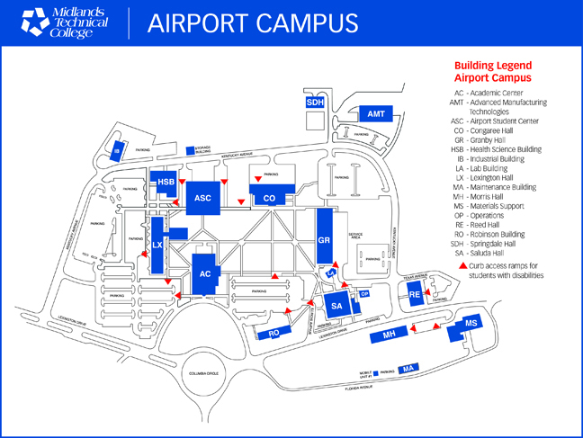 Midlands Tech Campus Map.Airport Campus Map Midlands Technical College Continuing Education