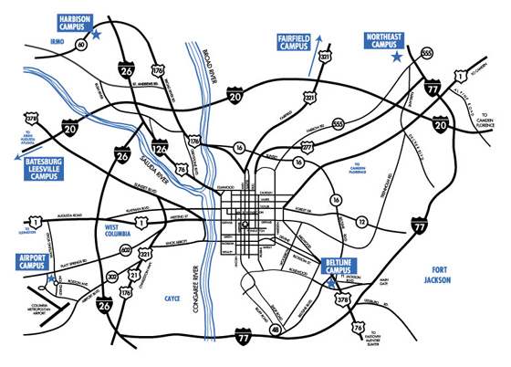 Midlands Tech Airport Campus Map Midlands Technical College: Continuing Education